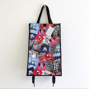 Disney foldable reusable bag with wheels